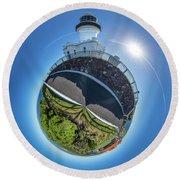 Byron Bay Lighthouse Round Beach Towel
