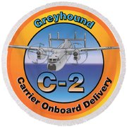 C-2 Greyhound Round Beach Towel