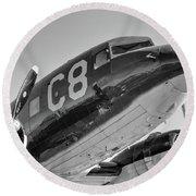 C-47 - 2017 Christopher Buff, Www.aviationbuff.com Round Beach Towel
