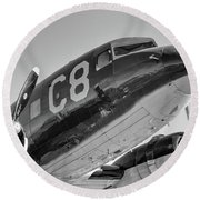 C-47 - 2017 Christopher Buff, Www.aviationbuff.com Round Beach Towel