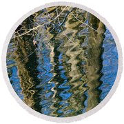 C And O Abstract Round Beach Towel