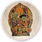 C3po Star Wars Afrofuturist Collection Round Beach Towel
