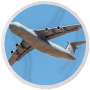Round Beach Towel featuring the photograph C5 Galaxy In Flight by SR Green