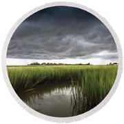 Cabbage Inlet Cold Front Round Beach Towel