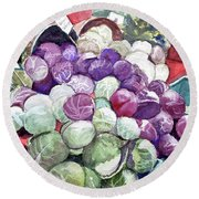 Cabbage Patch Round Beach Towel