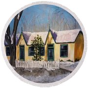 Cabbagetown Christmas Round Beach Towel