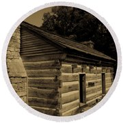 Cabin At The Hermitage Round Beach Towel