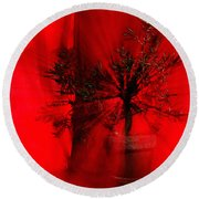Round Beach Towel featuring the photograph Cabin Fever Dance by Susan Capuano