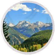 Cabin In The San Juans Round Beach Towel
