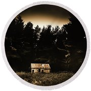 Cabin In The Woodlands  Round Beach Towel