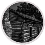 Cabin On The Grounds At The Hermitage Round Beach Towel