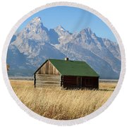 Cabin With A View Round Beach Towel