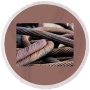 Cable Chaos Round Beach Towel