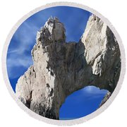 Round Beach Towel featuring the photograph Cabo San Lucas Archway by Shane Bechler