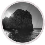 Cabo Sunset Round Beach Towel