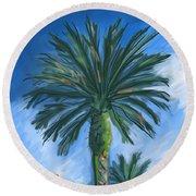 Cactus Garden Round Beach Towel
