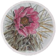 Cactus Joy Round Beach Towel