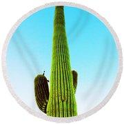 Cactus Minimus Round Beach Towel