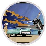 Cadillac Eldorado 1959 Round Beach Towel by Sassan Filsoof