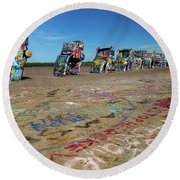 Cadillac Graffiti Round Beach Towel