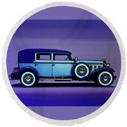 Cadillac V16 1930 Painting Round Beach Towel