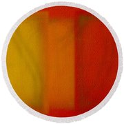 Cadmium Lemon Round Beach Towel