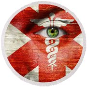 Caduceus  Round Beach Towel