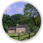 1e140 Caesar Creek Pioneer Village Photo Round Beach Towel