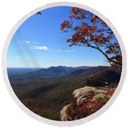 Caesars Head State Park In Upstate South Carolina Round Beach Towel