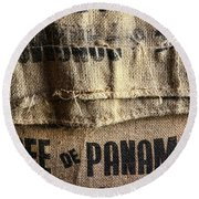 Cafe De Panama Round Beach Towel