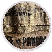 Cafe De Panama Round Beach Towel