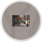 Cafe Lodo Round Beach Towel