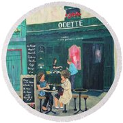 Cafe Odette Round Beach Towel