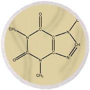 Caffeine Molecular Structure Vintage Round Beach Towel