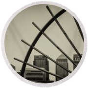 Caged Canary Round Beach Towel