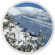 Cairngorm Mountain Ski Area Round Beach Towel