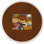 Cake Case Round Beach Towel