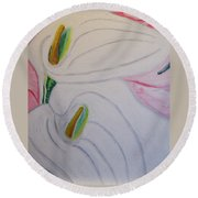 Cala Lillies Round Beach Towel by Barbara Yearty