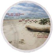 Calallen 40th Reunion - D Round Beach Towel