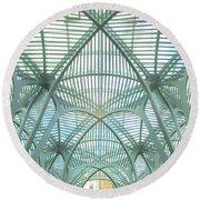 Calatrava In Toronto 10 Round Beach Towel by Randall Weidner