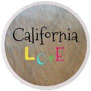 Cali Love Round Beach Towel