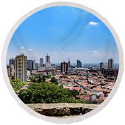 Cali Skyline Round Beach Towel