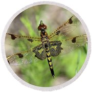 Calico Pennant  Round Beach Towel