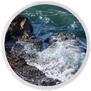 Round Beach Towel featuring the photograph California Beauty by Michael Rock