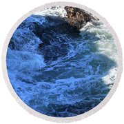 Round Beach Towel featuring the photograph California Blue by Michael Rock