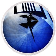 Round Beach Towel featuring the photograph California Blue by Wayne Sherriff
