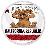 California Budget La La La Round Beach Towel