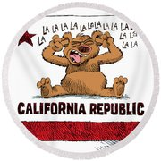 California Budget La La La Round Beach Towel