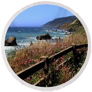 California Coast Round Beach Towel