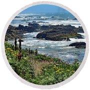 California Coast No. 9-1 Round Beach Towel